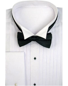 TS-3821 Tuxedo Dress Shirt Wing Collar with Bow-Tie Set