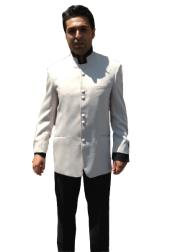L3XX 8 Button no collar mandarin Nehru Tuxedo Dinner