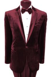 AC-293 Velvet Velour Blazer Online Sale Sport Coat Two