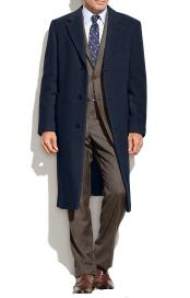 Mens Topcoat Wool Cashmere Blend Columbia