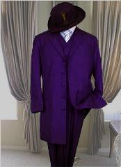Men's classic long purple Suit