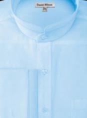 Cuff Banded Collar Shirt