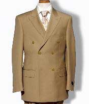 EMILC76 Khaki Double Breasted Dress cheap discounted Suit $125