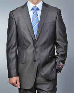 Metallic Grey 2-button Suit