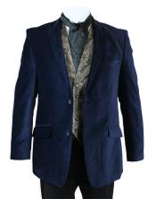Velvet Smoking Jacket Midnight Blue