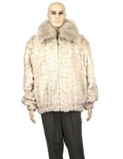 GD879 Mens Fur Genuine Mink Jacket With Full Skin