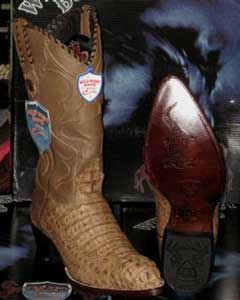 R04-Q Wild West Mink Genuine Crocodile ~ Alligator skin
