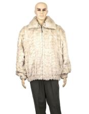 GD880 Mens Fur Pearl Genuine Mink Jacket With Full