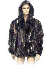 GD869 Mens Fur Multi-Color Genuine Pieces Mink Pull Up