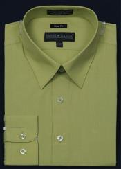 KA5674 Slim narrow Style Fit Dress Shirt - lime