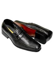 Antonio Synthetic Black Python