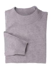 GD1477 Mens Mock Neck 100% Acrylic Gray Sweater