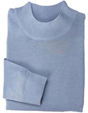 GD1481 Mens Light Blue Mock Neck Hem Collar 100%