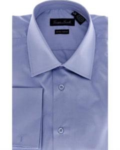 Modern-Fit Dress Shirt Solid Blue