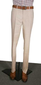 AA366 Modern Fit Flat Front Pants Natural