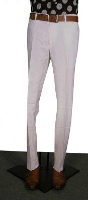 AA365 Modern Fit Flat Front Pants White