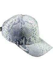 Ostrich Alligator Exotic Skin Natural Baseball Cap