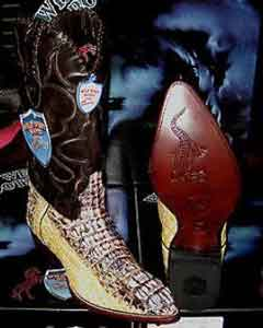 V-04G Wild West Natural Genuine Crocodile ~ Alligator skin