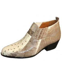 Genuine Snakeskin Boots Natural