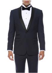 Navy 1-Button Shawl Tuxedo Clearance