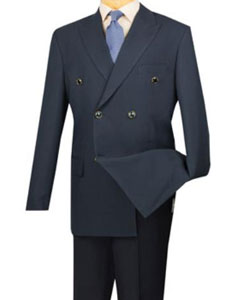 MK404 Lucci Navy 6 Button Double Breasted Blazer Online