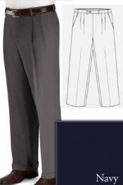PN80 Big and Tall Dress Pants Slacks For Navy