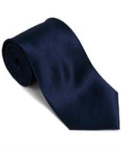 Navyblue 100% Silk Solid Necktie