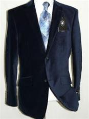 IT5546 Velvet Navy Blue Shade Sport Coat Blazer Online