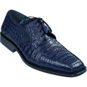 KA4632 Gator Skin Dress Blue Shoes – Navy Blue