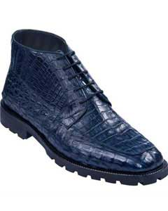 KA4227 High Top Gator Skin Shoe Navy Blue Shade