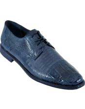 JSM-4935 Mens Navy Blue Oxfords Style Los Altos Genuine