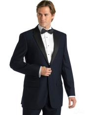 PN-J3 Midnight Navy Blue Shade Deville Two Button formal