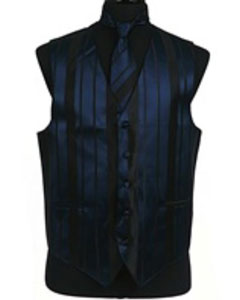 VS4016 Vest/Tie/Bowtie Sets (Navy Blue Shade-Black Combination)