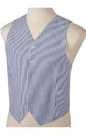 JR72W Navy Blue Shade and White Stripe ~ Pinstripe