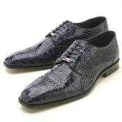 KA2341 Navy cai ~ Alligator skin Oxford