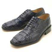 HKL225 Oxfords Navy Croc & Ostrich Lace-Up