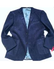 AP665 Mens Navy 2 Buttons Single Breasted Notch Lapel