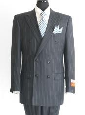 WN827 Superior Fabric 140 Navy Double Breasted Suit