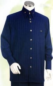 HK964 Navy Long Sleeve 2pc Set including Matching Wide