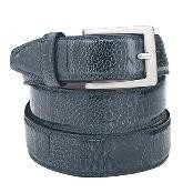 Nb7292 Navy Ostrich Leg Belt