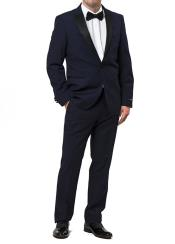 JSM-5400 Men's fully lined zip fly tuxedo style navy