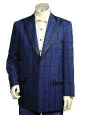 QT8178 Navy Pinstripe Gangester Long length Zoot Suit For
