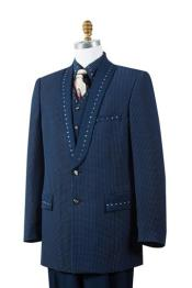 Navy 4 Piece Sharkskin