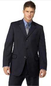 Navy 3 Button Style Polyester