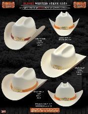 TFB6771 10000x Norma Style Western Cowboy Straw Hat