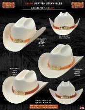 HMA7117 5000x Norma Style Western Cowboy Straw Hats