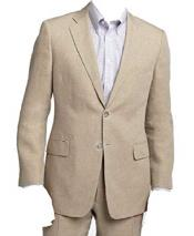 JSM-825 Mens Two Piece Beige/Natural Notch Lapel Mens 2