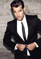 mens Black Suit Black Shirt