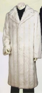 Artificial Fur Coat Off-White