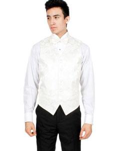 Off-White Paisley Vest Bowtie Necktie